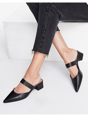 Other Stories &  leather pointy heeled pumps in black-neutral