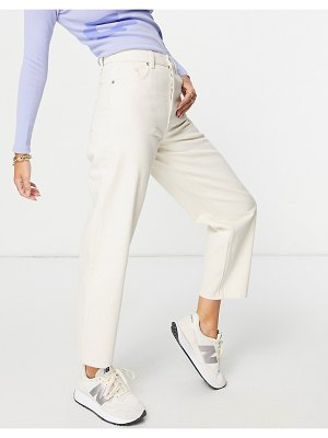 Other Stories &  major organic cotton high waist tapered leg jeans in ecru-neutral