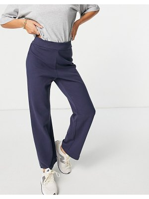 Other Stories &  organic cotton coordinating lounge pants in navy