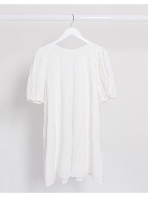 Other Stories &  organic cotton embroidered smock dress in white