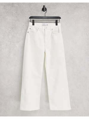 Other Stories &  organic cotton high waist ovoid jeans in white
