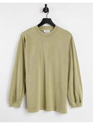 Other Stories &  organic cotton long sleeve t-shirt in beige-neutral
