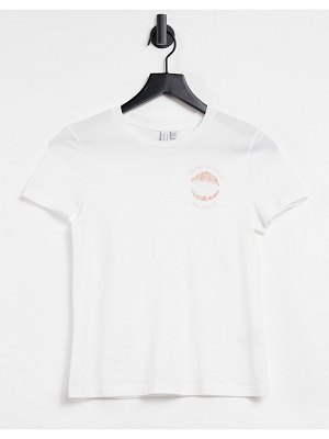 Other Stories &  organic cotton slogan t-shirt in off white