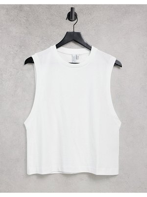 Other Stories &  organic cotton tank top in white