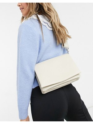 Other Stories &  padded cross-body bag in off white