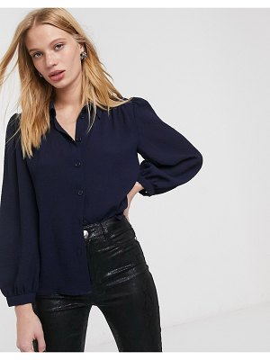 Other Stories &  pleated shoulder blouse in navy