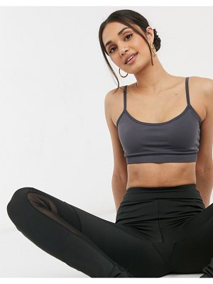 Other Stories &  recycled yoga sports bra set in charcoal-grey