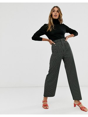 Other Stories &  wide leg pants in green check