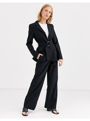 Other Stories &  wide leg tailored pants in black