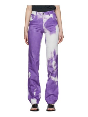 Ottolinger purple and white five pocket jeans