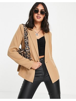 Outrageous Fortune tailored blazer in camel set-brown