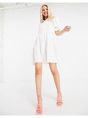 Outrageous Fortune tiered smock dress in white