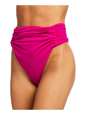 OYE Swimwear Alectrona High-Waist Ruched Bikini Bottoms