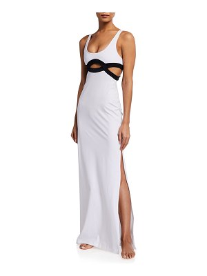 OYE Swimwear Elvan Cutout Maxi Coverup Dress