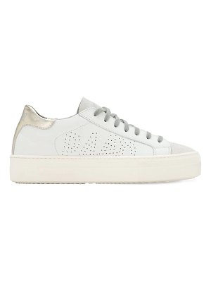P448 30mm thea leather & suede sneakers