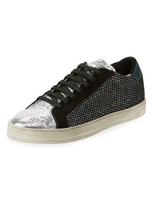 P448 John Low-Top Sneaker in Glitter Mesh