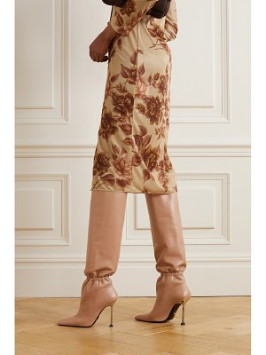 Paciotti ruched leather knee boots