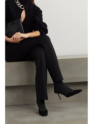 Paciotti suede-trimmed mesh sock boots