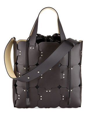 Paco Rabanne 16#01 Cabas Medium Studded Patchwork Tote Bag