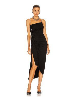 Paco Rabanne button down ruched dress