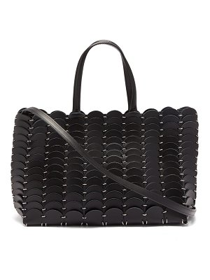 Paco Rabanne chainmail & woven leather tote bag