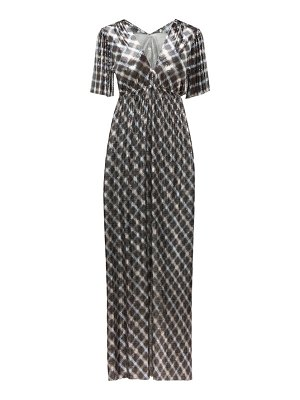 Paco Rabanne checked chainmail maxi dress