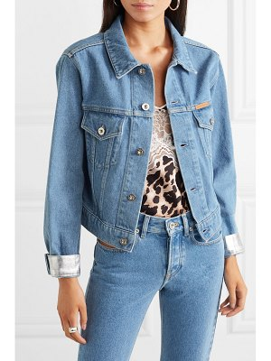 Paco Rabanne cropped two-tone denim jacket