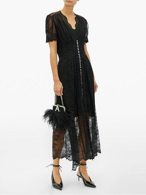 Paco Rabanne crystal button lace maxi dress