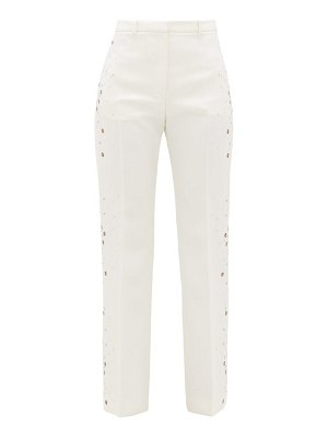Paco Rabanne embellished wool straight-leg trousers