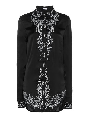 Paco Rabanne embroidered satin button-up shirt