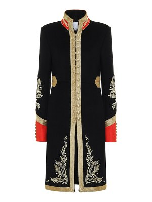 Paco Rabanne embroidered wool-blend coat