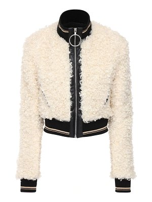 Paco Rabanne Faux shearling short jacket