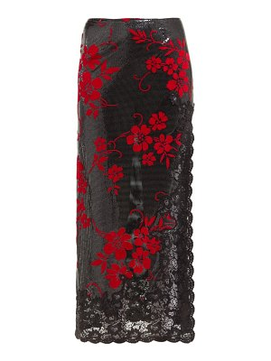 Paco Rabanne flocked chainmail and lace skirt