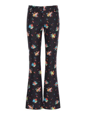 Paco Rabanne Floral printed cotton blend pants