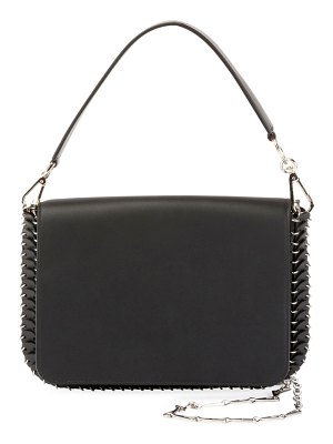 Paco Rabanne Iconic Shoulder Bag w/Handle in Sleek Calf