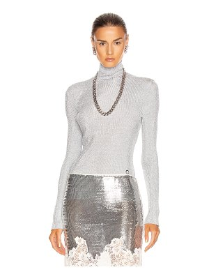 Paco Rabanne knit turtleneck top