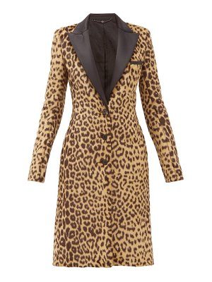 Paco Rabanne single-breasted leopard-print faux-fur coat