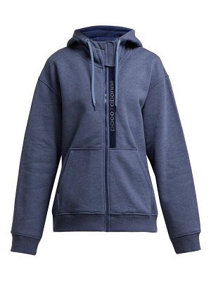 Paco Rabanne Logo Embroidered Cotton Hoody
