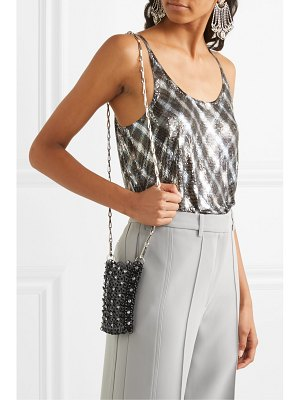 Paco Rabanne mini 1969 crystal-embellished chainmail shoulder bag