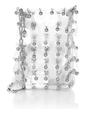 Paco Rabanne mini 1969 sparkle transparent crossbody bag