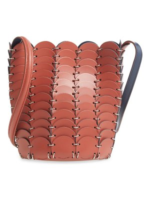 Paco Rabanne pacoio leather bucket bag