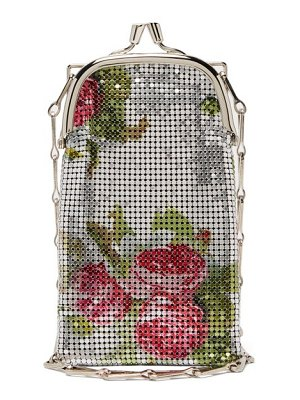 Paco Rabanne pixel 1969 mini rose-print chainmail bag