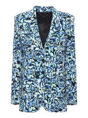 Paco Rabanne Printed cotton single breast blazer