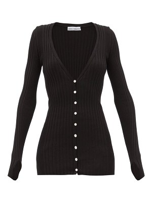 Paco Rabanne ribbed cotton-blend cardigan