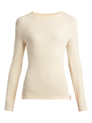 Paco Rabanne ribbed knit wool blend sweater
