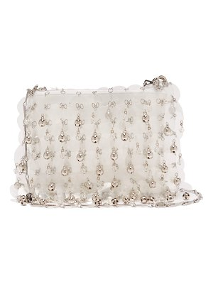 Paco Rabanne Sequin and bell-embellished leather bag