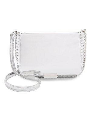 Paco Rabanne small metallic calfskin crossbody bag