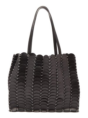 Paco Rabanne woven leather chainmail tote bag