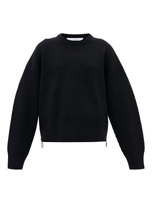 Paco Rabanne zipped-side knitted-wool sweater