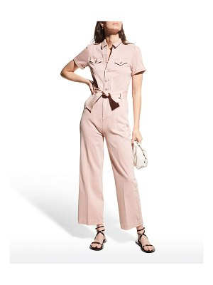 PAIGE Anessa Belted Puff-Sleeve Jumpsuit